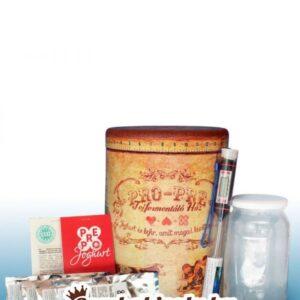 JOGHURT CSOMAG:  joghurt érlelő + hőmérő + joghurt oltókultúra (6x)