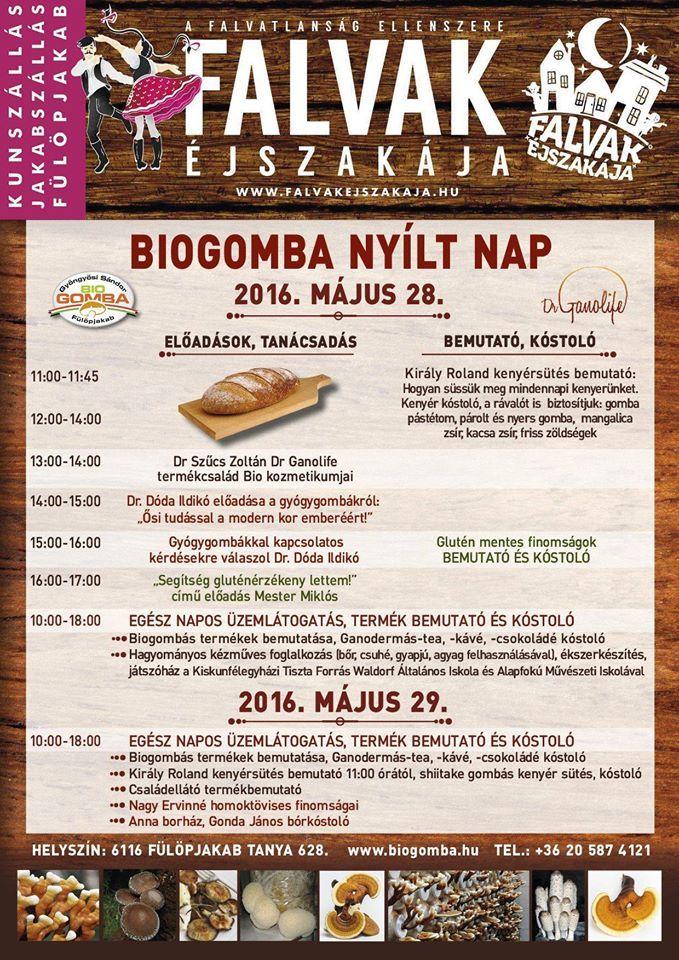 Biogomba Nyílt Nap - Fülöpjakab 2016. május 28-29.