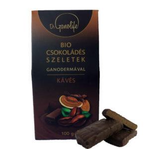 BIO csokoládés szeletek ganodermával - kávés