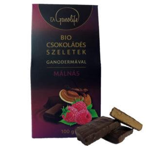 BIO csokoládés szeletek ganodermával - málnás
