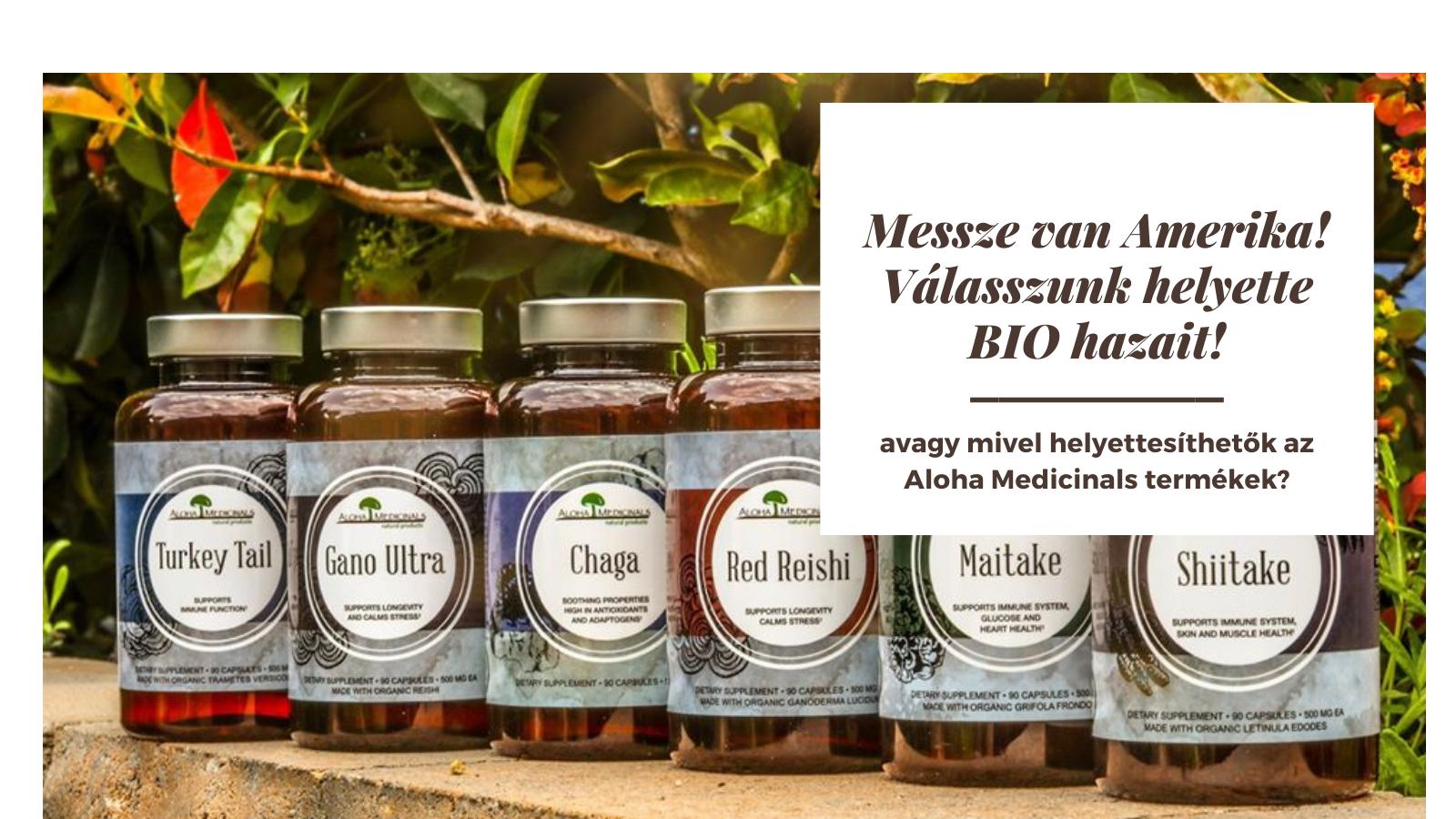 Aloha Medicinals termékek helyettesíthetősége